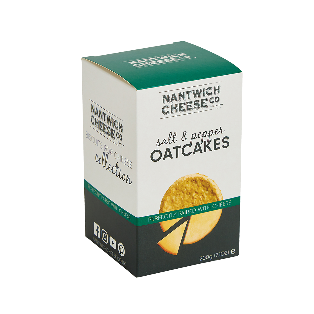 salt and pepper oatcakes front facing