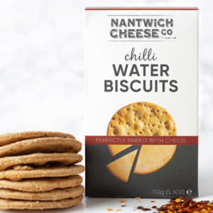 chilli water biscuits crackers savoury snack hot pepper spicy cheese cheeseboard