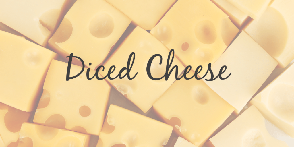 diced cheese cubed processing manufacturing catering