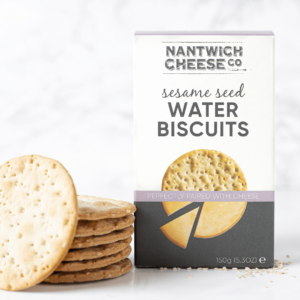 sesame seed water biscuits crackers savoury snack cheese cheeseboard